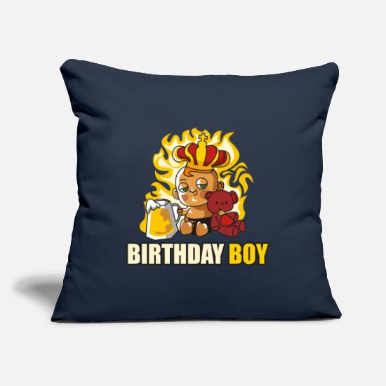 Birthday Pillow Cases - birthday kid baby cartoon beer birthday - Pillowcase 17,3'' x 17,3'' (45 x 45 cm) navy