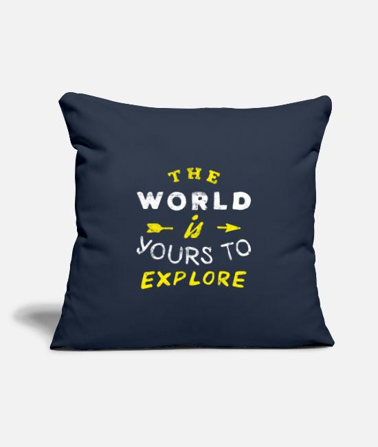 Travel Bug Pillow Cases - Travel Travel World Award Traveler - Pillowcase 17,3'' x 17,3'' (45 x 45 cm) navy