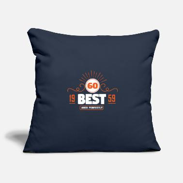 60th birthday - born 1959 - 60 years old - Pillowcase 17,3'' x 17,3'' (45 x 45 cm)