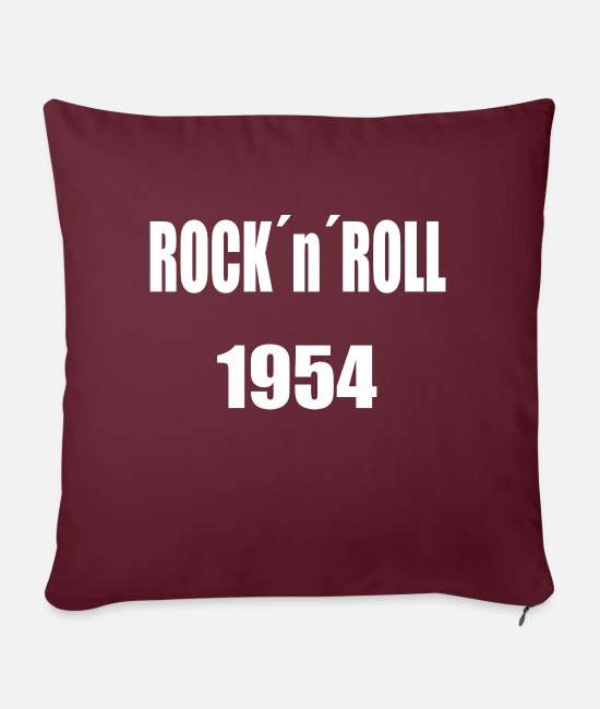 Rock 'n' Roll Pillow Cases - Rocknroll White - Pillowcase 17,3'' x 17,3'' (45 x 45 cm) burgundy