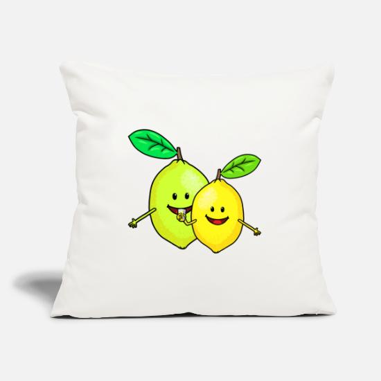 Gift Idea Pillow Cases - Sour makes funny lemons Funny Fantasy Fruits - Pillowcase 17,3'' x 17,3'' (45 x 45 cm) natural white