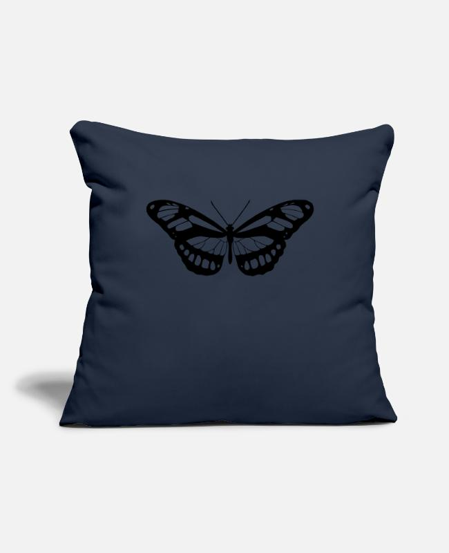 Wing Pillow Cases - Butterfly silhouette - Pillowcase 17,3'' x 17,3'' (45 x 45 cm) navy