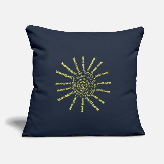 Hawaii Pillow Cases - Sunny text - Pillowcase 17,3'' x 17,3'' (45 x 45 cm) navy
