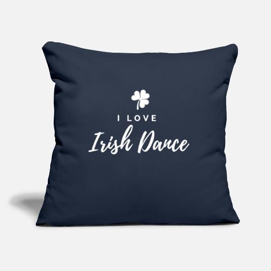 Irish Pillow Cases - I love IRISH DANCE - Pillowcase 17,3'' x 17,3'' (45 x 45 cm) navy