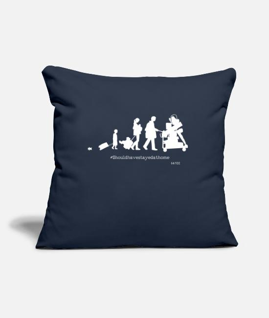 Mummy Pillow Cases - Family Holiday Green T - Pillowcase 17,3'' x 17,3'' (45 x 45 cm) navy