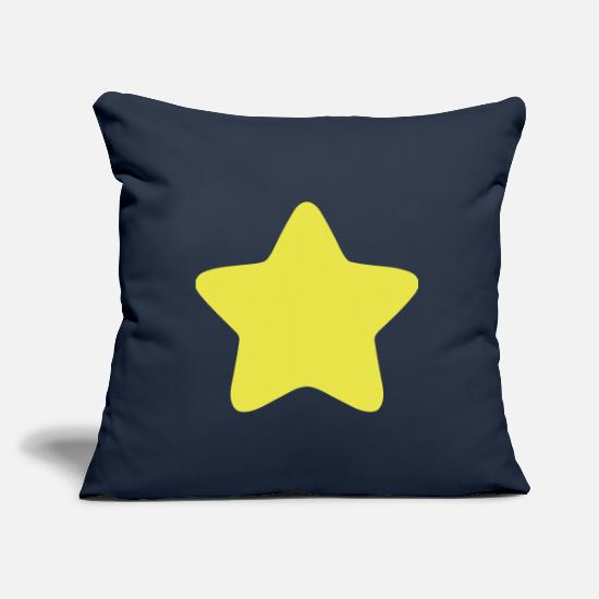Starbucks Pillow Cases - star rounded edge star 3 - Pillowcase 17,3'' x 17,3'' (45 x 45 cm) navy