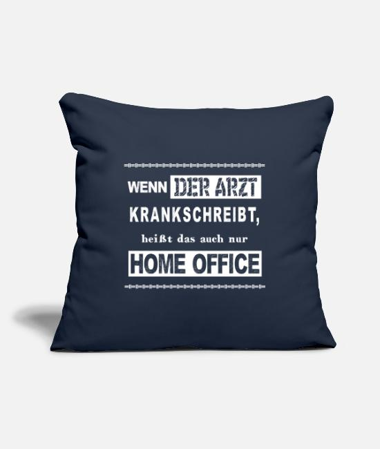 Office Pillow Cases - Office funny home office - Pillowcase 17,3'' x 17,3'' (45 x 45 cm) navy