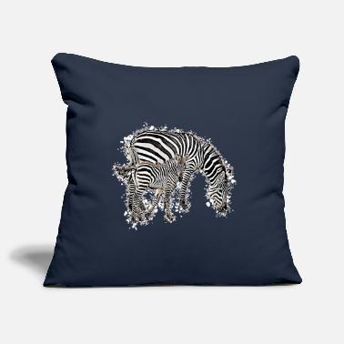 Zebra Zebra with baby zebra - Pillowcase 17,3'' x 17,3'' (45 x 45 cm)
