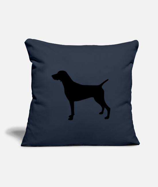 Dog Owner Pillow Cases - German Shorthair silhouette - Pillowcase 17,3'' x 17,3'' (45 x 45 cm) navy