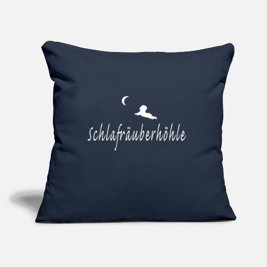 Gift Idea Pillow Cases - Sleep Robber's Cave (white) - Pillowcase 17,3'' x 17,3'' (45 x 45 cm) navy