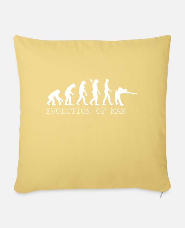 Cue Pillow Cases - Billiards Snooker Pool - Pillowcase 17,3'' x 17,3'' (45 x 45 cm) washed yellow