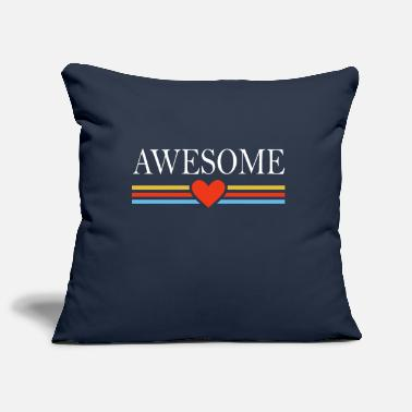 Awesome Awesome awesome heart - Pillowcase 17,3'' x 17,3'' (45 x 45 cm)