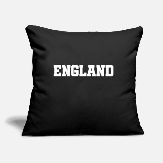 Slogan Pillow Cases - England - Slogan - Quote - Soccer - Three Lions GB - Pillowcase 17,3'' x 17,3'' (45 x 45 cm) black