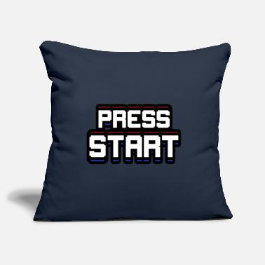 Start Press START - Housse de coussin décorative 44 x 44 cm