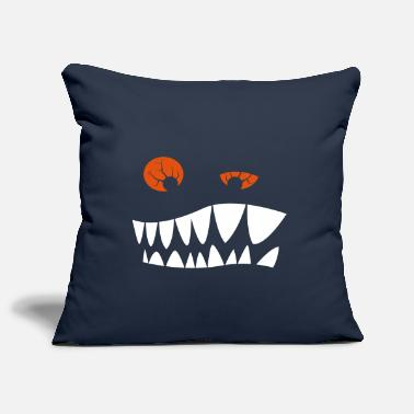 Red Eyes Toothed grimace with red eyes - Pillowcase 17,3'' x 17,3'' (45 x 45 cm)