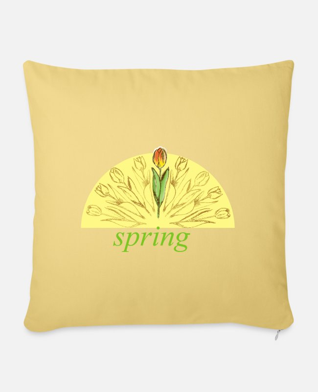 Nature Pillow Cases - Spring Spring - Pillowcase 17,3'' x 17,3'' (45 x 45 cm) washed yellow