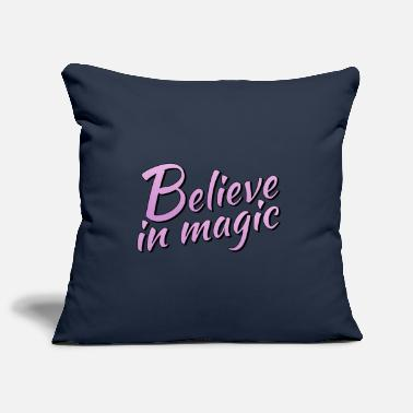 Lilac Believe in magic logo in lilac - Pillowcase 17,3'' x 17,3'' (45 x 45 cm)