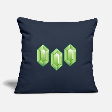 Rupee Three Green rupees diamonds - Pillowcase 17,3'' x 17,3'' (45 x 45 cm)
