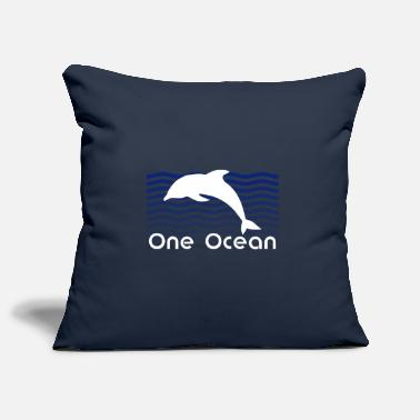 Blueness Save the Oceane - Conservation - Sea - Dolphin - Pillowcase 17,3'' x 17,3'' (45 x 45 cm)