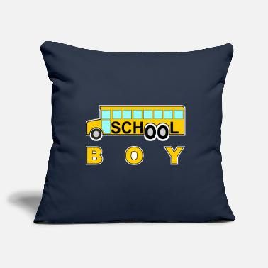 School school school boy school school bus #school% school - Pillowcase 17,3'' x 17,3'' (45 x 45 cm)