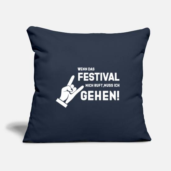 Style Of Music Pillow Cases - Festival Shirt · Open Air Party · Music Gift - Pillowcase 17,3'' x 17,3'' (45 x 45 cm) navy
