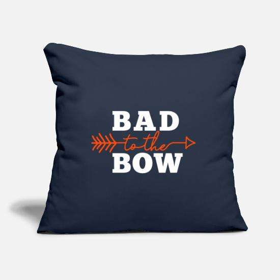 Arrow And Bow Pillow Cases - Bad to the Bow (Ladies) - Pillowcase 17,3'' x 17,3'' (45 x 45 cm) navy