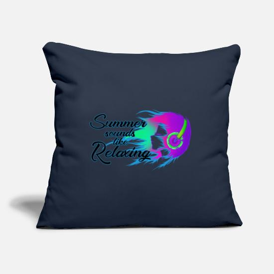 Sound System Pillow Cases - Summer sounds - Pillowcase 17,3'' x 17,3'' (45 x 45 cm) navy