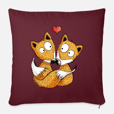 Valentines Day Fox In Love - Foxes - Gift - Heart - Couple - Pillowcase 17,3'' x 17,3'' (45 x 45 cm)