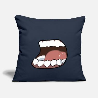 Mouth Hunger, mouth, mouth - Pillowcase 17,3'' x 17,3'' (45 x 45 cm)