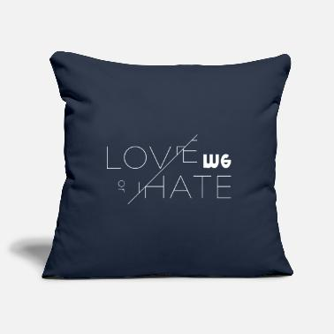 Love Me love me or not love me or leave it - Pillowcase 17,3'' x 17,3'' (45 x 45 cm)