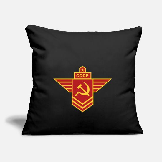 Communist Pillow Cases - Communist insignia - Pillowcase 17,3'' x 17,3'' (45 x 45 cm) black