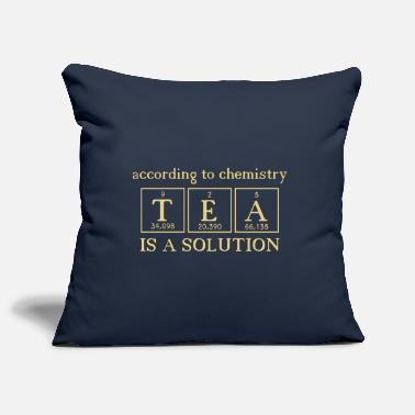 Labouratory Tea is a solution - teabag chemistry elements - Pillowcase 17,3'' x 17,3'' (45 x 45 cm)