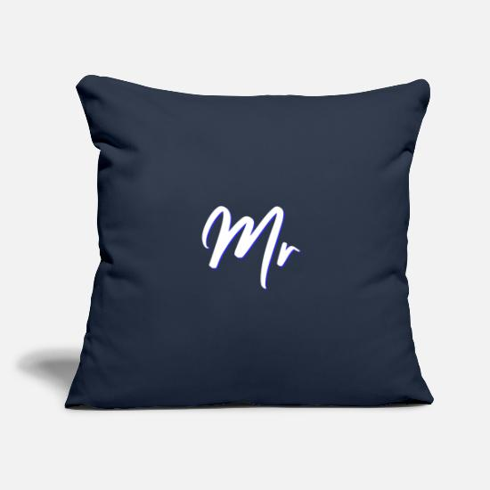 Gift Idea Pillow Cases - Mr Couple Couple Friend Partner Couple Shirt - Pillowcase 17,3'' x 17,3'' (45 x 45 cm) navy