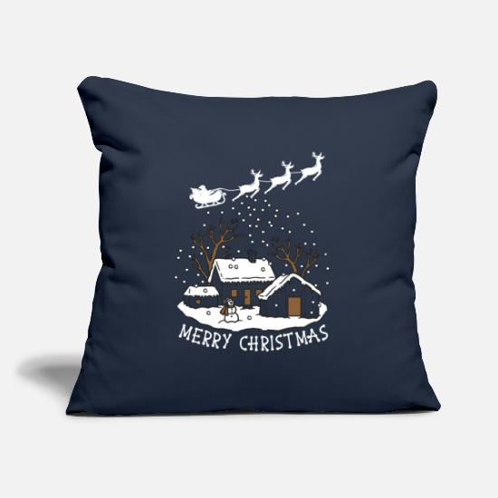 Present Pillow Cases - Merry Christmas Christmas present - Pillowcase 17,3'' x 17,3'' (45 x 45 cm) navy