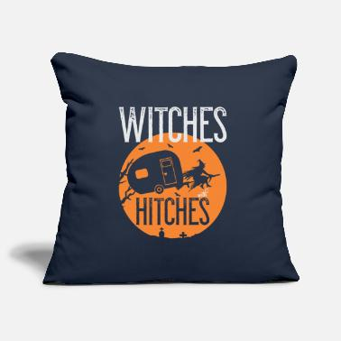 Caravan Funny Witches with Caravan Funny Camper Halloween - Pillowcase 17,3'' x 17,3'' (45 x 45 cm)