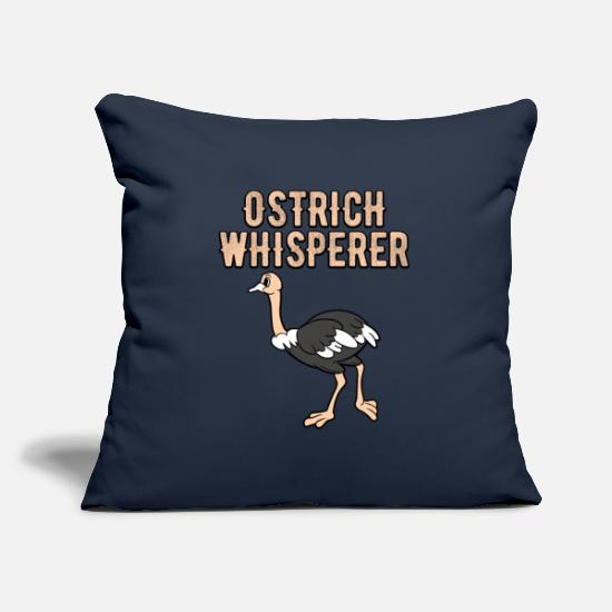 Love Pillow Cases - Ostrich Whisperer - Pillowcase 17,3'' x 17,3'' (45 x 45 cm) navy