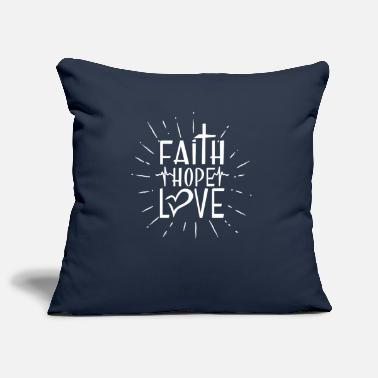 Hope Faith Hope Love - encouraging & heartening - Pillowcase 17,3'' x 17,3'' (45 x 45 cm)