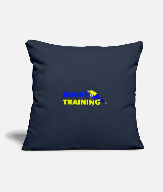 Training Pillow Cases - RUGBY TRAINING Blue and yellow - Pillowcase 17,3'' x 17,3'' (45 x 45 cm) navy
