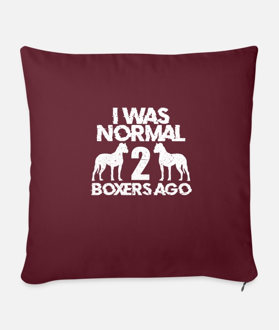 Love Pillow Cases - Boxer dog - Pillowcase 17,3'' x 17,3'' (45 x 45 cm) burgundy
