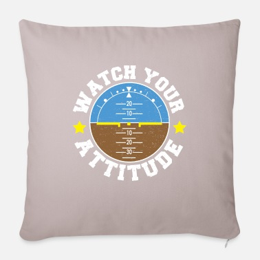 Flight School Watch Your Attitude - Pilot - Pillowcase 17,3'' x 17,3'' (45 x 45 cm)