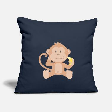 Lapsi Monkey with banana - Pillowcase 17,3'' x 17,3'' (45 x 45 cm)