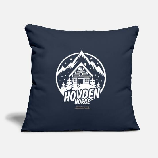 Snow Pillow Cases - Hovden Norge Ski Resort - Pillowcase 17,3'' x 17,3'' (45 x 45 cm) navy