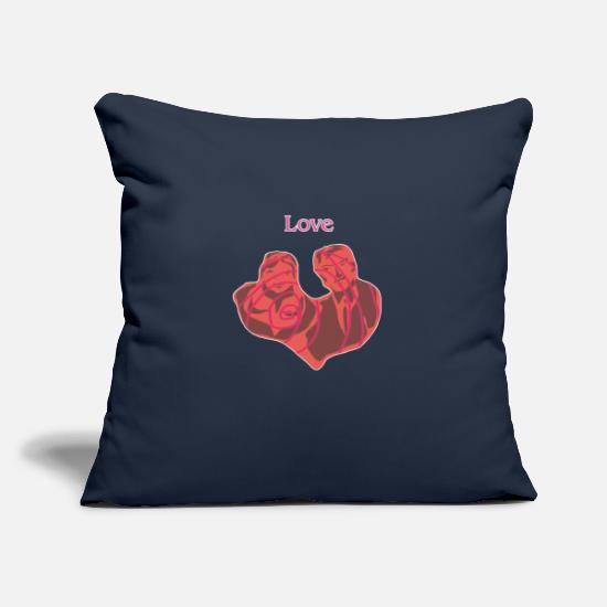 Romantic Pillow Cases - Couple - Pillowcase 17,3'' x 17,3'' (45 x 45 cm) navy