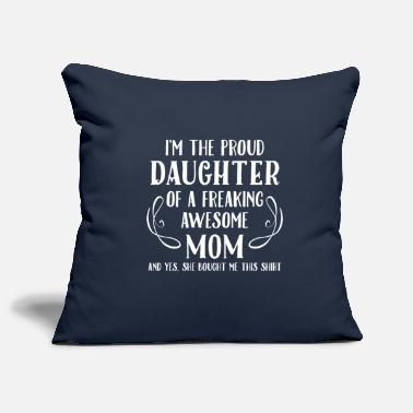 Proud Daughter, Awesome Mom - Pillowcase 17,3'' x 17,3'' (45 x 45 cm)