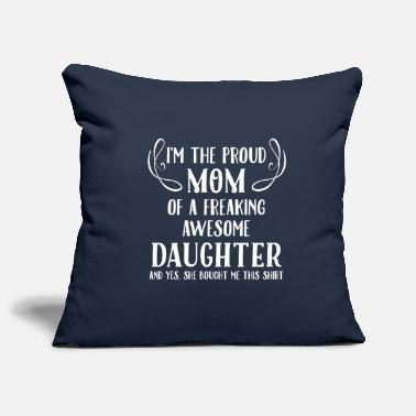 Proud Mom, Awesome Daughter - Pillowcase 17,3'' x 17,3'' (45 x 45 cm)