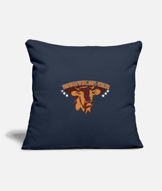 Muh Pillow Cases - Funny Cow Muhviehstar Muh Gift - Pillowcase 17,3'' x 17,3'' (45 x 45 cm) navy