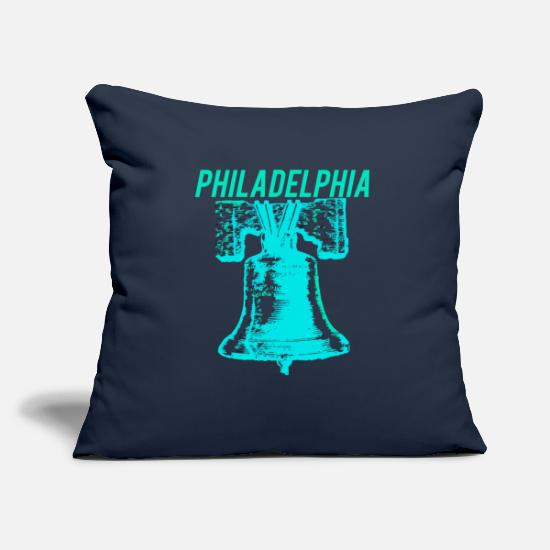Patriot Pillow Cases - Philadelphia Liberty Bell American Independence - Pillowcase 17,3'' x 17,3'' (45 x 45 cm) navy
