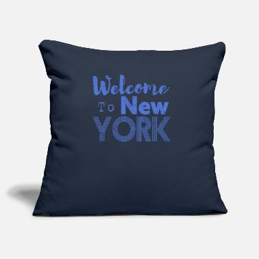 Hip Welcome to New York Vintage - Pillowcase 17,3'' x 17,3'' (45 x 45 cm)