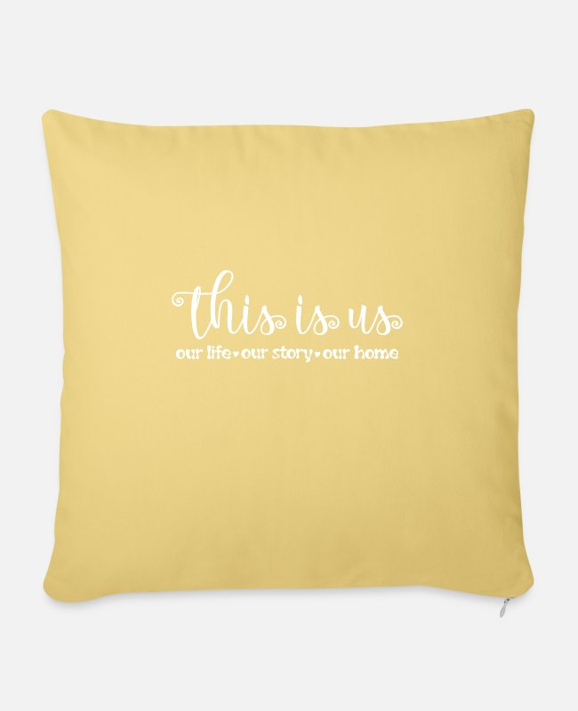 Father's Day Pillow Cases - family - Pillowcase 17,3'' x 17,3'' (45 x 45 cm) washed yellow
