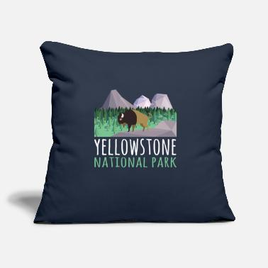 Helped Dome US Bison Buffalo Yellowstone National Park - Pillowcase 17,3'' x 17,3'' (45 x 45 cm)